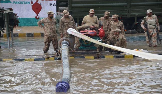 karachi drowned in rain