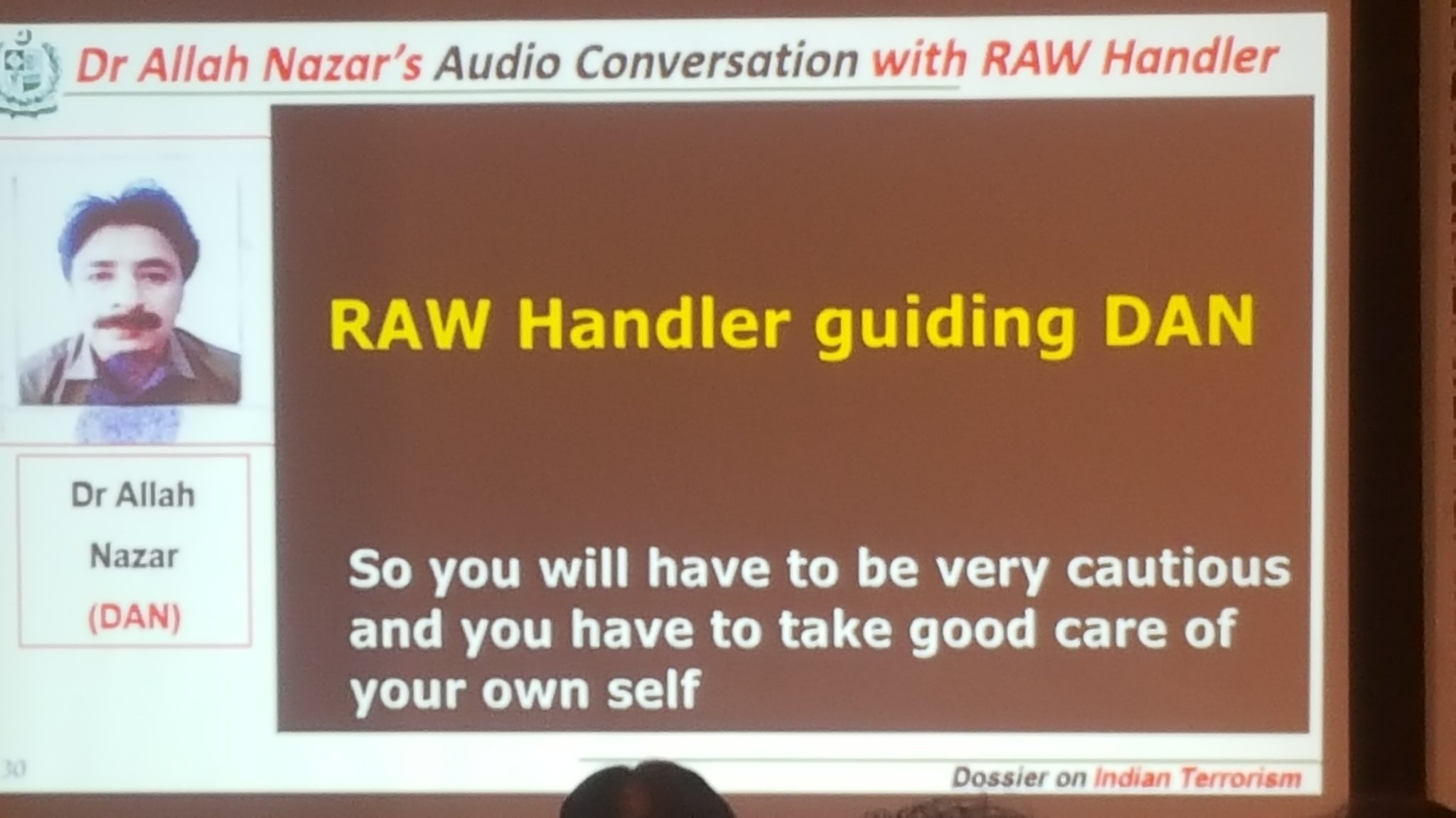 dr allah nazar audio conversation with raw handler