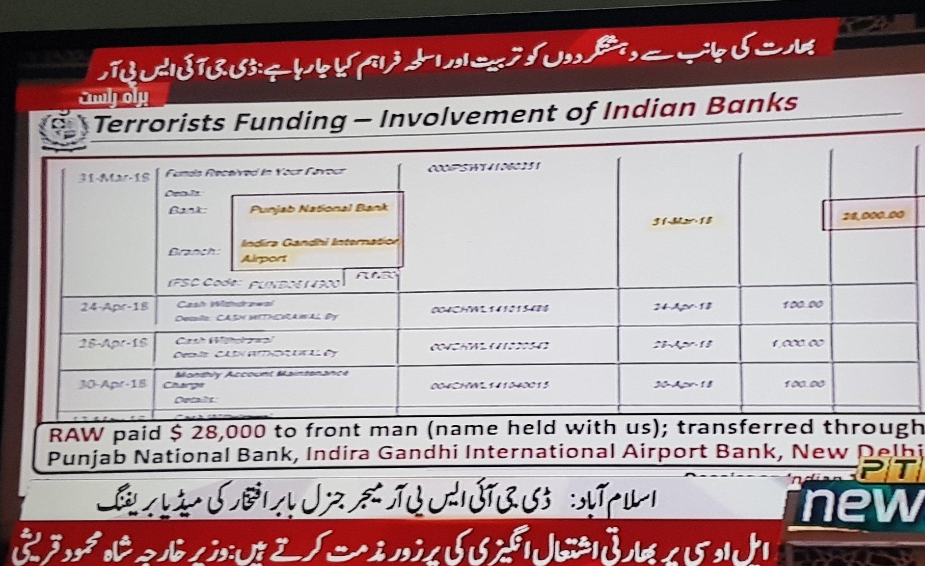 terrorist funding by RAW
